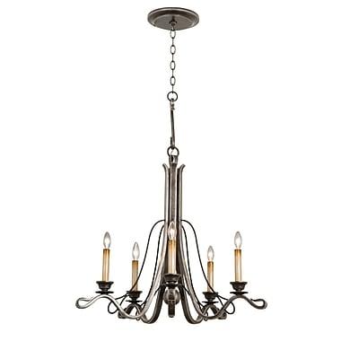 Kalco Keller 5-Light Candle-Style Chandelier; Royal Mahogany