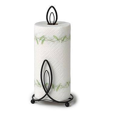 Spectrum Diversified Lumin Paper Towel Holder; Black