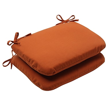 Pillow Perfect Cinnabar Outdoor Seat Cushion (Set of 2)