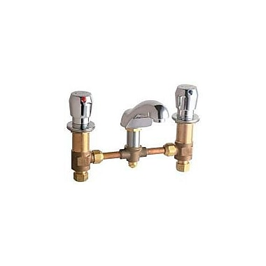Chicago Faucets Widespread Bathroom Sink Faucet w/ Double Pump Handles