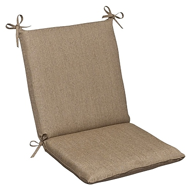 Pillow Perfect Outdoor Sunbrella Dining Chair Cushion; Tan Textured Solid