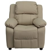 Flash Furniture Deluxe Contemporary Heavily Padded Vinyl Kids Recliners W/Storage Arms