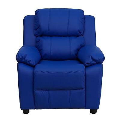Flash Furniture Deluxe Wood Recliner, Blue (BT7985KIDBLUE)