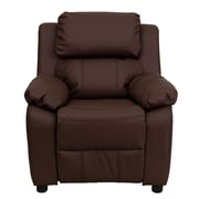 Flash Furniture Deluxe Wood Recliner, Brown (BT7985KIDBRNLEA)