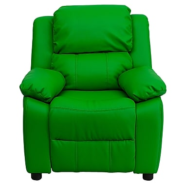 Flash Furniture Deluxe Wood Recliner, Green (BT7985KIDGRN)