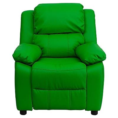 Flash Furniture Deluxe Wood Recliner, Green (BT7985KIDGRN)