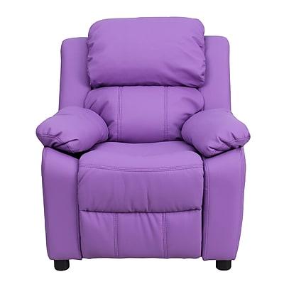 Flash Furniture Deluxe Wood Recliner, Lavender (BT7985KIDLAV)