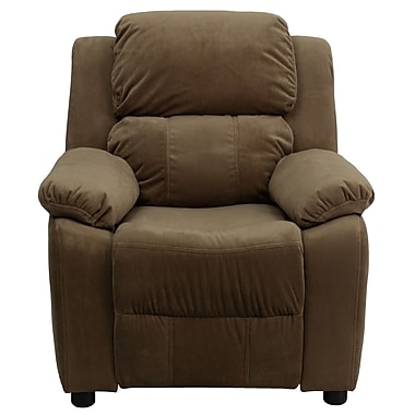 Flash Furniture Deluxe Wood Recliner, Brown (BT7985KIDMICBN)