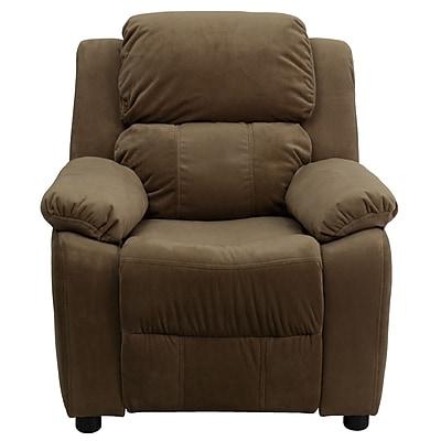 Flash Furniture Deluxe Wood Recliner, Brown (BT7985KIDMICBN)