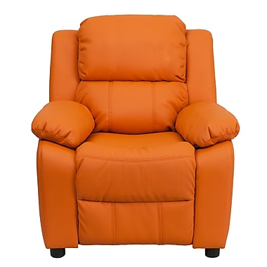 Flash Furniture Deluxe Wood Recliner, Orange (BT7985KIDORANGE)