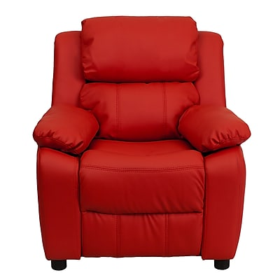 Flash Furniture Deluxe Wood Recliner, Red (BT7985KIDRED)