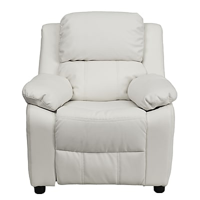 Flash Furniture Deluxe Wood Recliner, White (BT7985KIDWHITE)