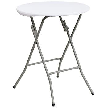 Flash Furniture 24'' Round Granite Folding Table