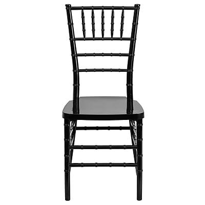 Flash Furniture Elegance Resin Stacking Chiavari Chair, Black, 10/Pack