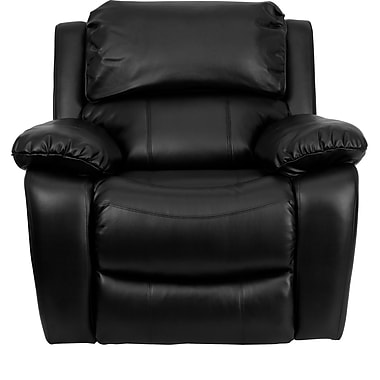 Flash Furniture Plush Leather Rocker Recliner, Black