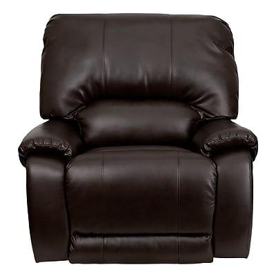 Flash Furniture OverStuffed Leather Lever Rocker Recliner, Brown