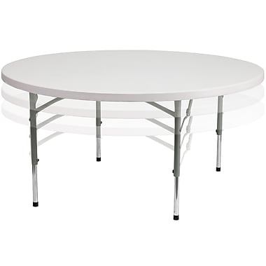 Flash Furniture – Table pliante à hauteur réglable de 60 po, blanc granit (RB60ADJ)