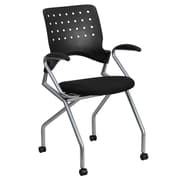 Flash Furniture Galaxy Mobile Nesting Chair with Arms and Black Fabric Seat (WLA224VA)
