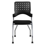 Flash Furniture Fabric Padded Mobile Nesting Chair, Black, 2/Pack