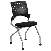 Flash Furniture Galaxy Mobile Nesting Chair with Black Fabric Seat, Silver Powder Coated Frame (WLA224V)