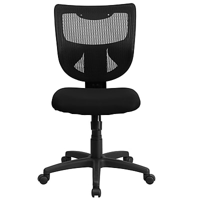 Flash Furniture Fabric Computer and Desk Office Chair, Armless, Black (WLF061SYGMF)