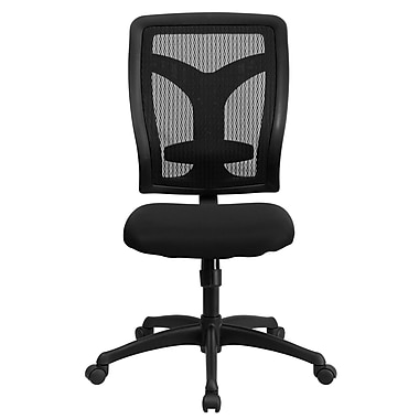 Flash Furniture Fabric Computer and Desk Office Chair, Armless, Black (WLF062SYGMF)