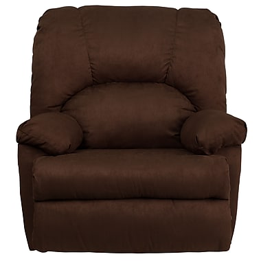 Flash Furniture Contemporary Montana Microfiber Suede Rocker Recliner, Chocolate Brown