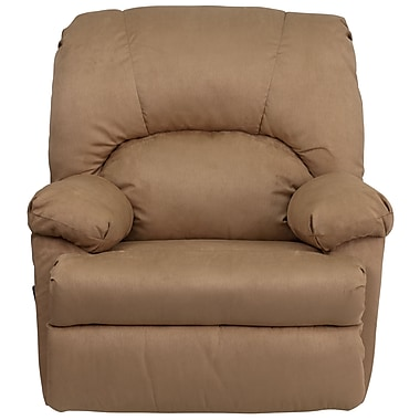 Flash Furniture Contemporary Montana Microfiber Suede Rocker Recliner, Latte