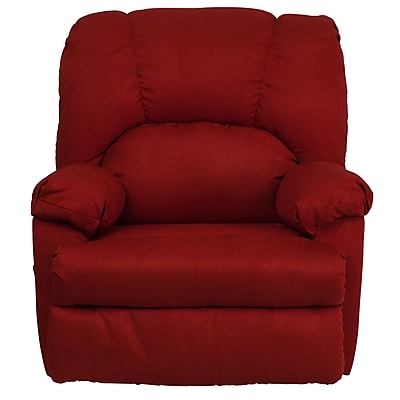 Flash Furniture Contemporary Montana Microfiber Suede Rocker Recliner, Garnett