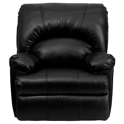Flash Furniture Contemporary Apache Leather Rocker Recliner, Black