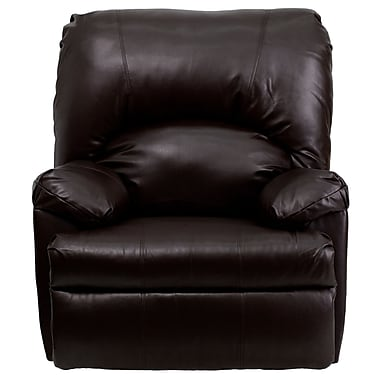 Flash Furniture Leather Apache Rocker Recliner, Brown, Contemporary