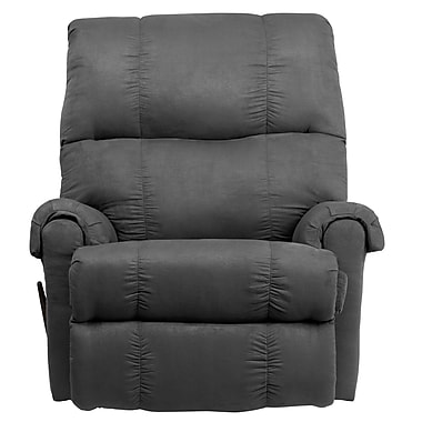Flash Furniture Flat Suede Microfiber Rocker Recliner, Graphite Gray, Contemporay (8700-113)
