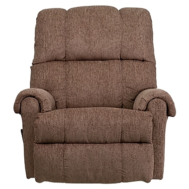 Flash Furniture – Fauteuil berçant inclinable contemporain Tahoe, chenille brun pâle/beige