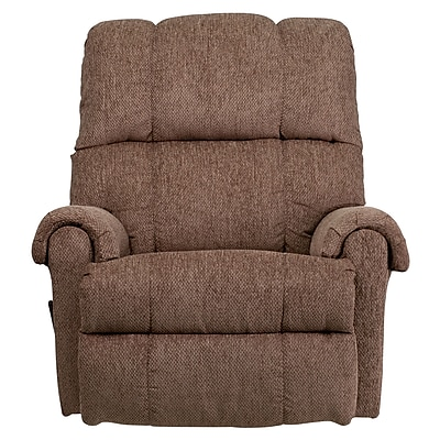 Flash Furniture Contemporary Tahoe Chenille Rocker Recliner, Light Brown/Beige