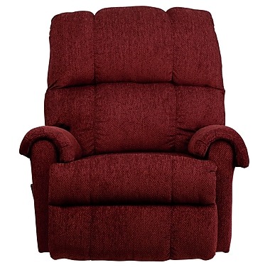 Flash Furniture Contemporary Tahoe Chenille Rocker Recliner, Burgundy