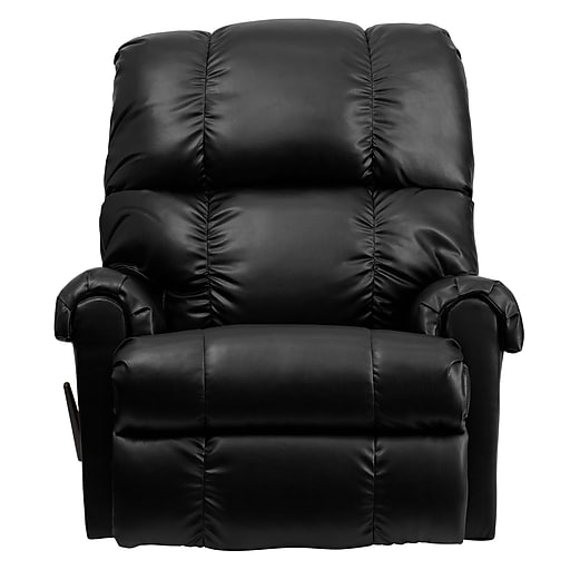 Flash Furniture Contemporary Apache Leather Tufted Rocker Recliner Black Https Www Staples 3p S7 Is