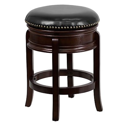 Flash Furniture 25 Contemporary Foot Ringbar Leather Bar Stool