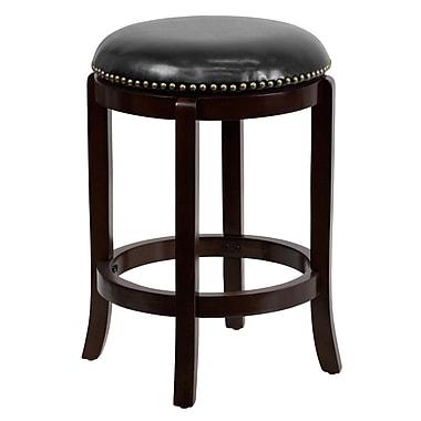 Flash Furniture – Tabouret de comptoir de 25 po sans dossier en cuir, noir/cappuccino