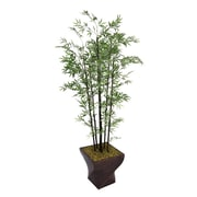 "Laura Ashley 82"" Bamboo Tree in 17"" Fiberstone Planter"