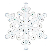 S&S Worldwide Snowflake Craft Kit, 12/Pack
