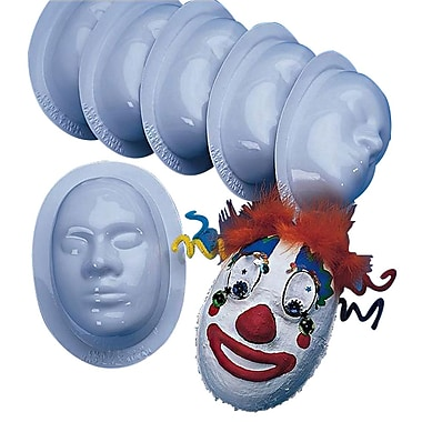 S&S® Make A Mask Facial Forms, 6/Pack