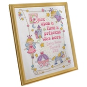 "Princess Birth Record Counted Cross Stitch Kit, 10""X13"" 14 Count"