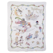 "Mary Engelbreit Mother Goose Crib Cover Stamped Cross Stitch Kit, 34""X43"""