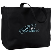 "HBH™ 12"" x 6 1/2"" x 14"" ""Bride"" Tote Bag, Black"