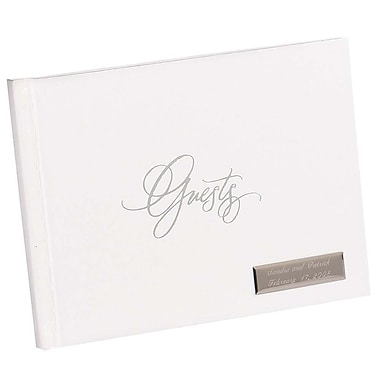 HBH™ Foil Guest Book, White