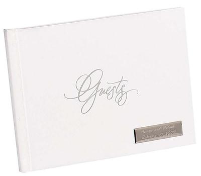 HBH™ Foil Guest Book, White