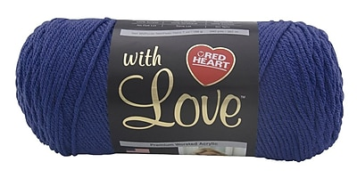 Red Heart With Love Yarn, True Blue