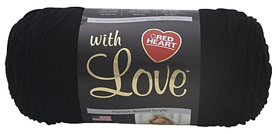 Red Heart With Love Yarn, Black