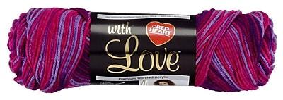 Red Heart With Love Yarn, Plum Jam