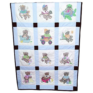 Stamped Baby Quilt Blocks 9